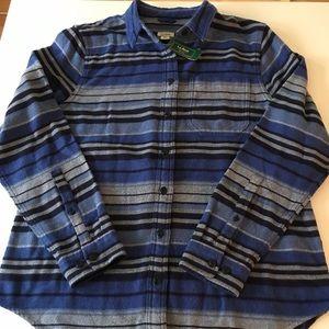 NWT L.L. Bean Organic Cotton Soft Flannel Shirt